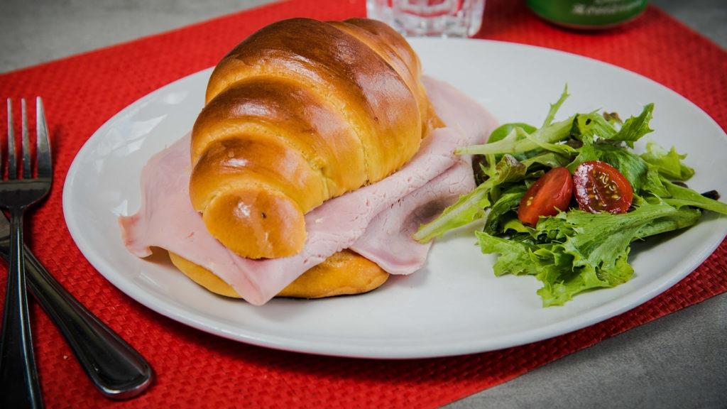 Continental ham croissant.