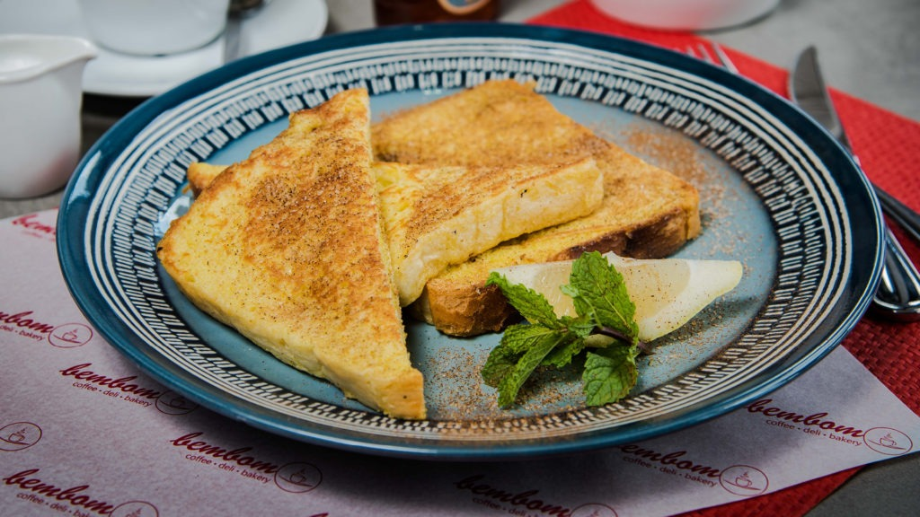 Rabanadas (French Toast) – Two slices of carcaça bread, dipped in an egg batter, fried, tossed in cinnamon, lemon zest & sugar.